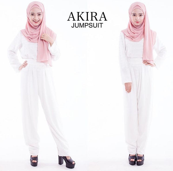 Akira Jumpsuit in White - Aly Ary