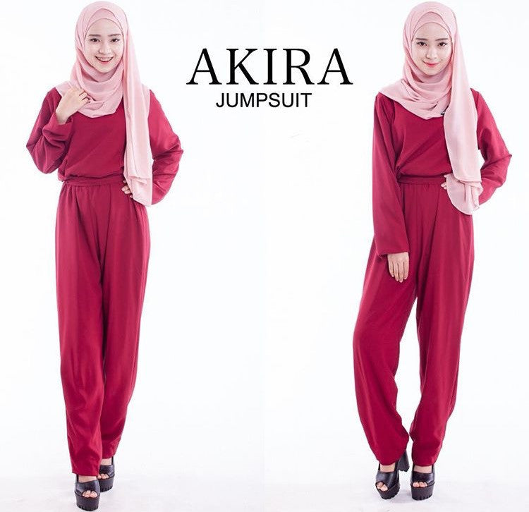 Akira Jumpsuit in Maroon - Sold Out - Aly Ary