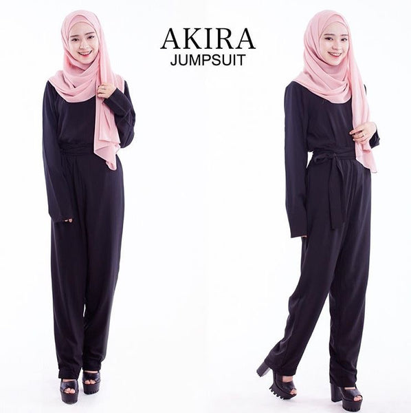 Akira Jumpsuit in Black - Aly Ary