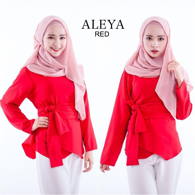 Aleya Top in Red - Aly Ary