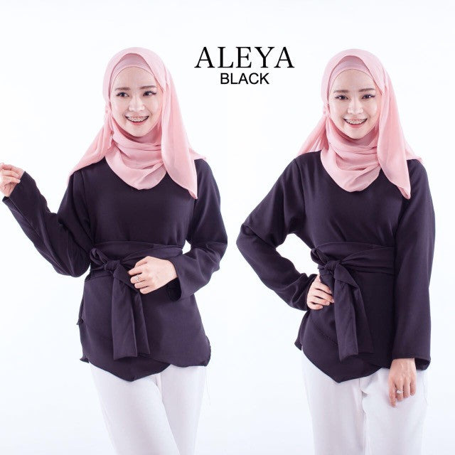 Aleya Top in Black - Aly Ary