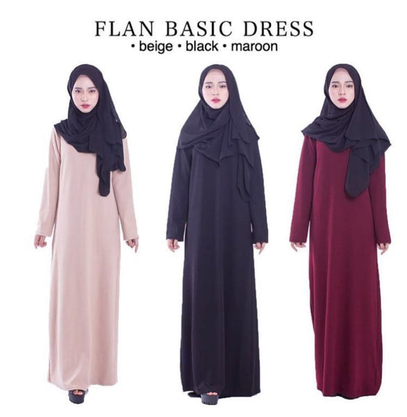 Basic Dress - Maroon