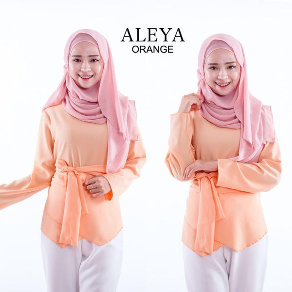 Aleya Top in Orange - Aly Ary