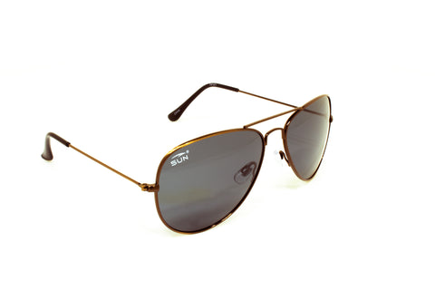 Pilot | 74121 | TruRevo Smoke Polarized Lens | Brushed Copper Frame