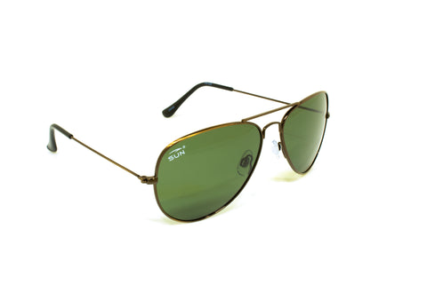 Pilot | 74122 | TruRevo Dark Green Polarized Lens | Brushed Copper Frame