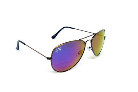 Pilot | 74123 | TruRevo Flash Blue Polarized Lens | Brushed Copper Frame