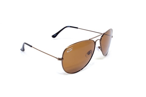 Pilot | 74124 | TruRevo Amber Tint Polarized Lens | Brushed Copper Frame