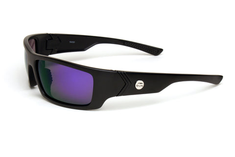 Waverider | 74101 | TruRevo Blue Polarized Lens | Matte Black Frame