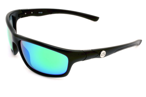 Crawler | 74153 | TruRevo Metallic Green Polarized Lens | Matte Black Frame