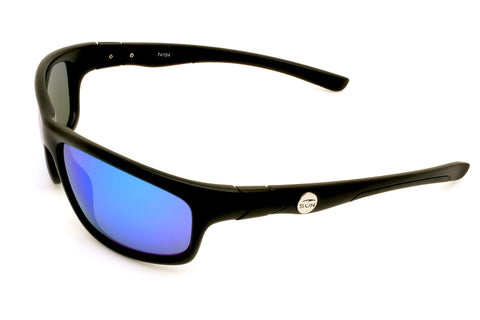 Crawler | 74154 | TruRevo Ice Blue Polarized Lens | Matte Black Frame