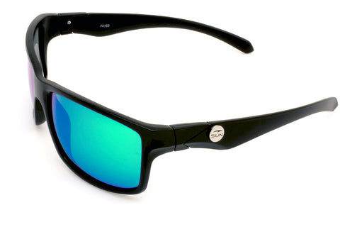 Kona | 74163 | TruRevo Metallic Green Polarized Lens | Matte Black Frame