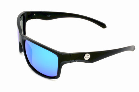 Kona | 74164 | TruRevo Ice Blue Polarized Lens | Matte Black Frame
