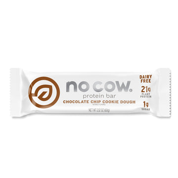 No Cow Chocolate Chip Cookie Dough Protein Bar