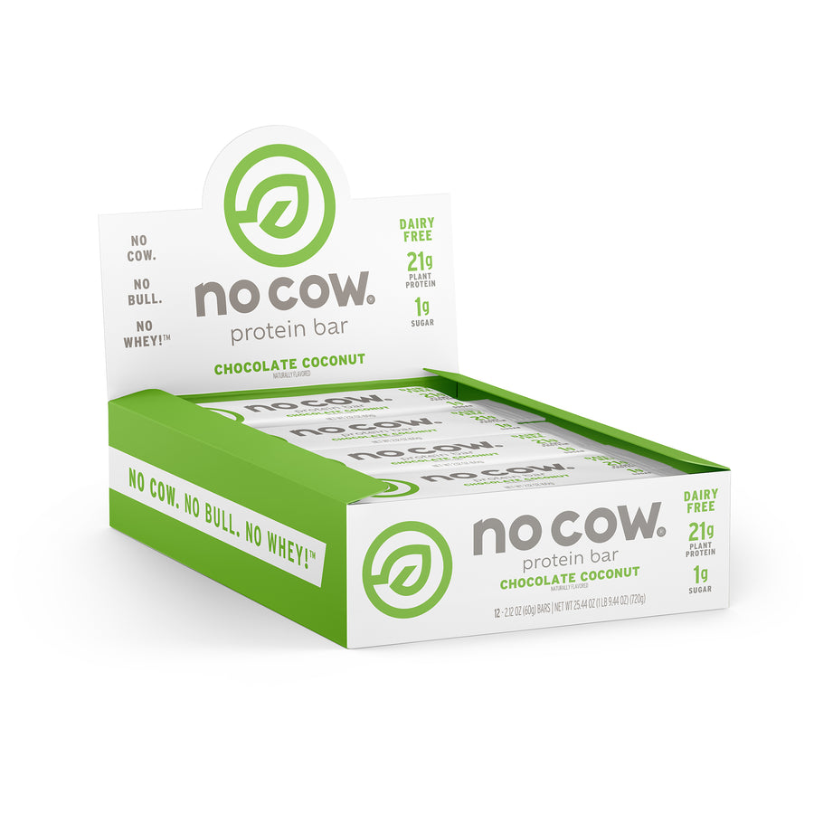No Cow Chocolate Coconut Protein Bar - 12 pack
