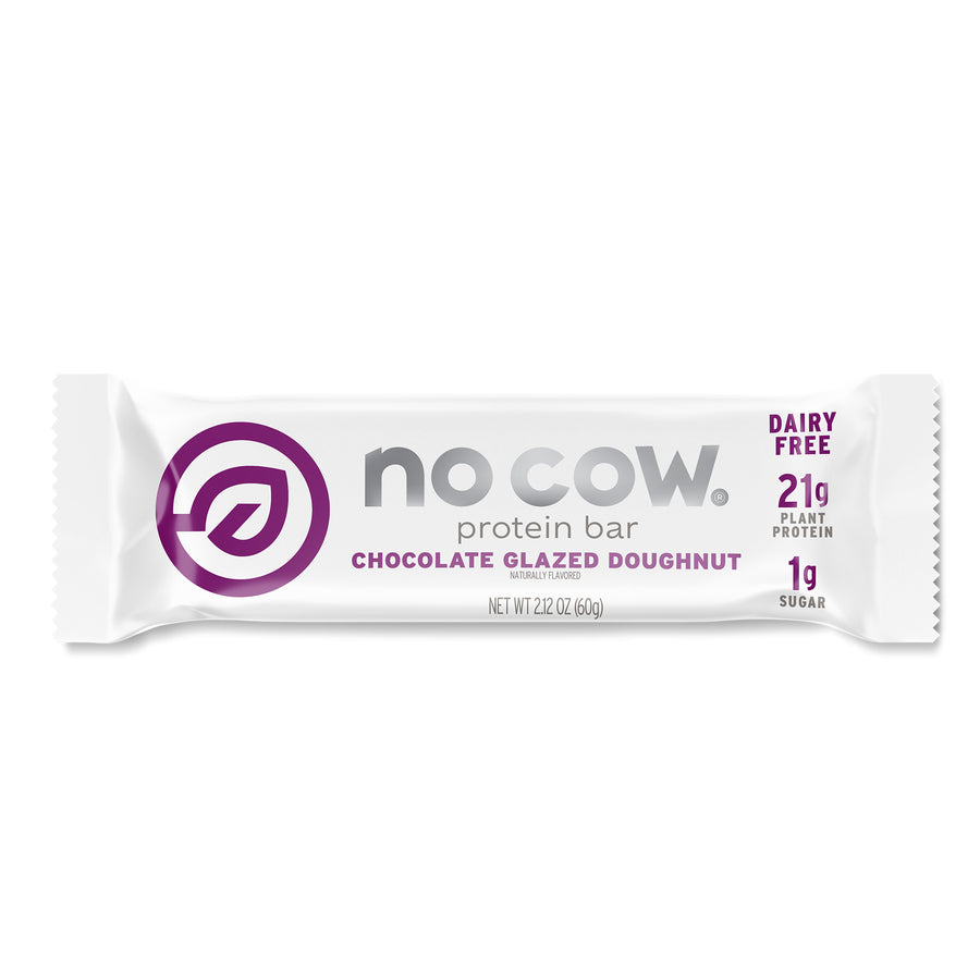 No Cow Chocolate Glazed Doughnut Protein Bar