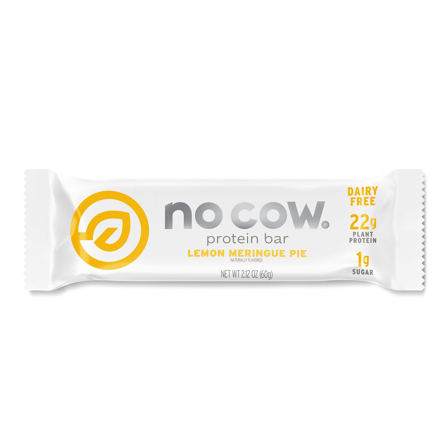 No Cow Lemon Meringue Pie Protein Bar
