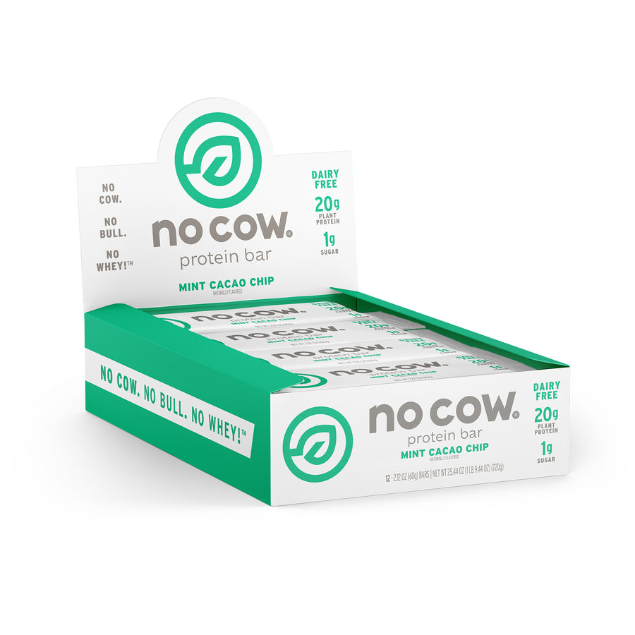 No Cow Mint Cacao Chip Protein Bar - 12 pack