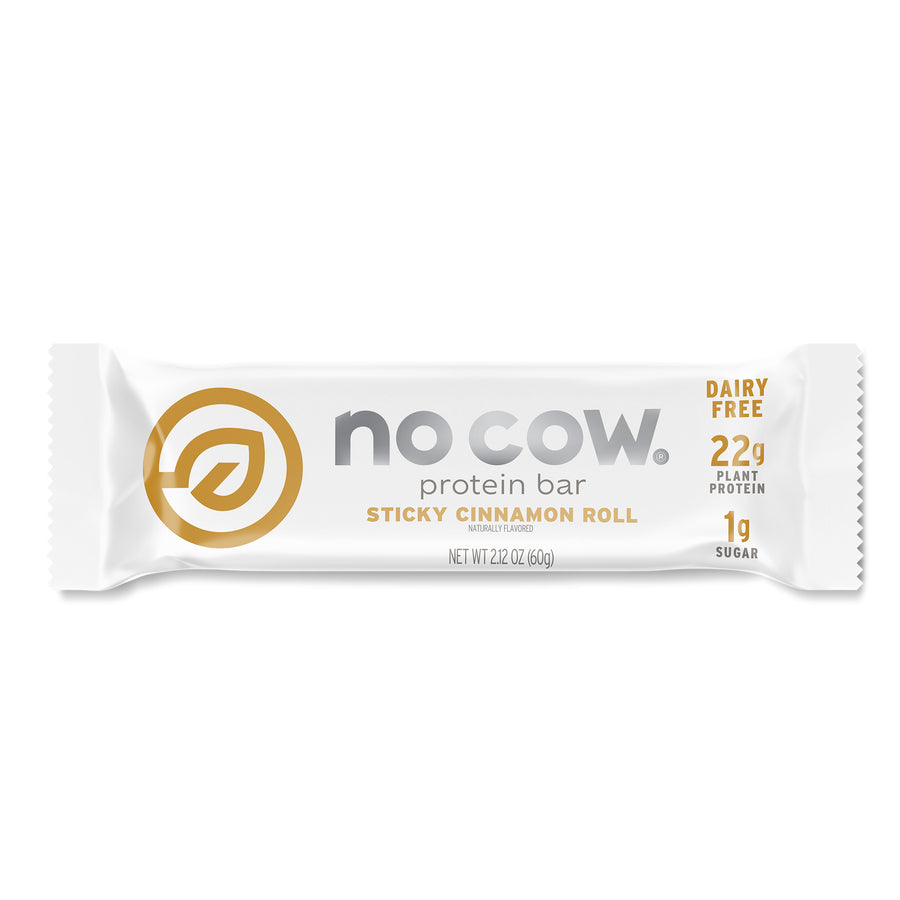 No Cow Sticky Cinnamon Roll Protein Bar