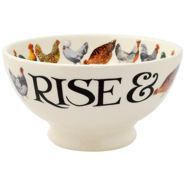 HTO010041 - EMMA BRIDGEWATER HEN & TOAST FRENCH BOWL