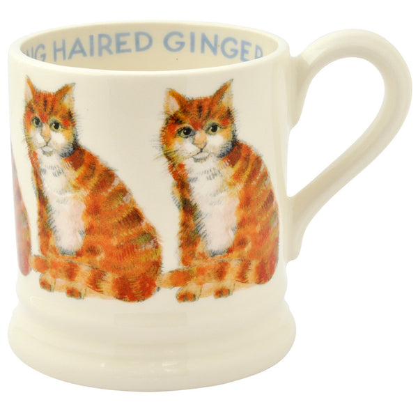 Long Hair Ginger Cat 1/2 Pint Mug
