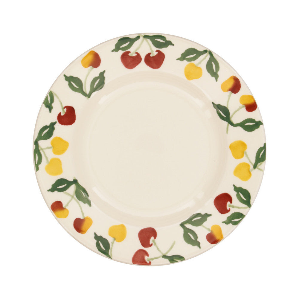 "CHE010063-EMMA BRIDGEWATER SUMMER CHERRIES 8.5"" PLATE"