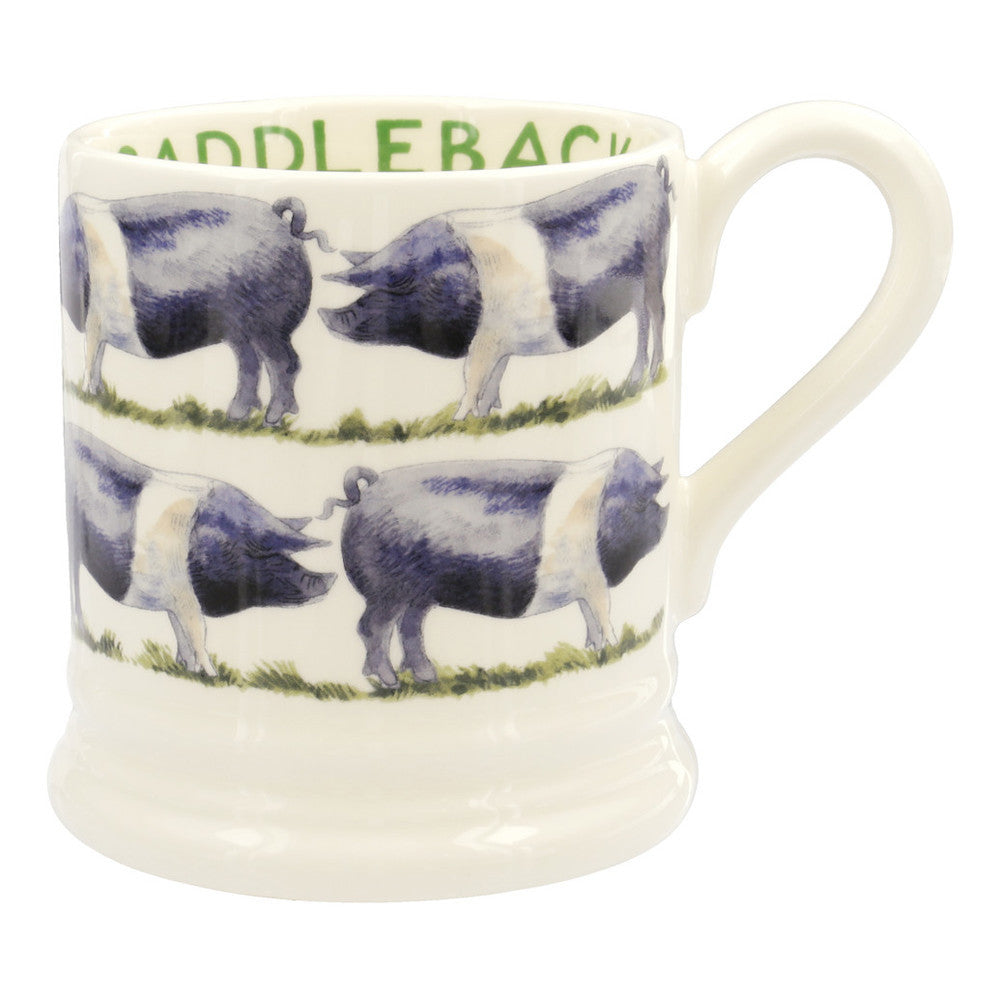 FAR080002 - EMMA BRIDGEWATER SADDLEBACK PIG 1/2 PINT MUG