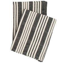 BIRMINGHAM BLACK COTTON WOVEN THROW