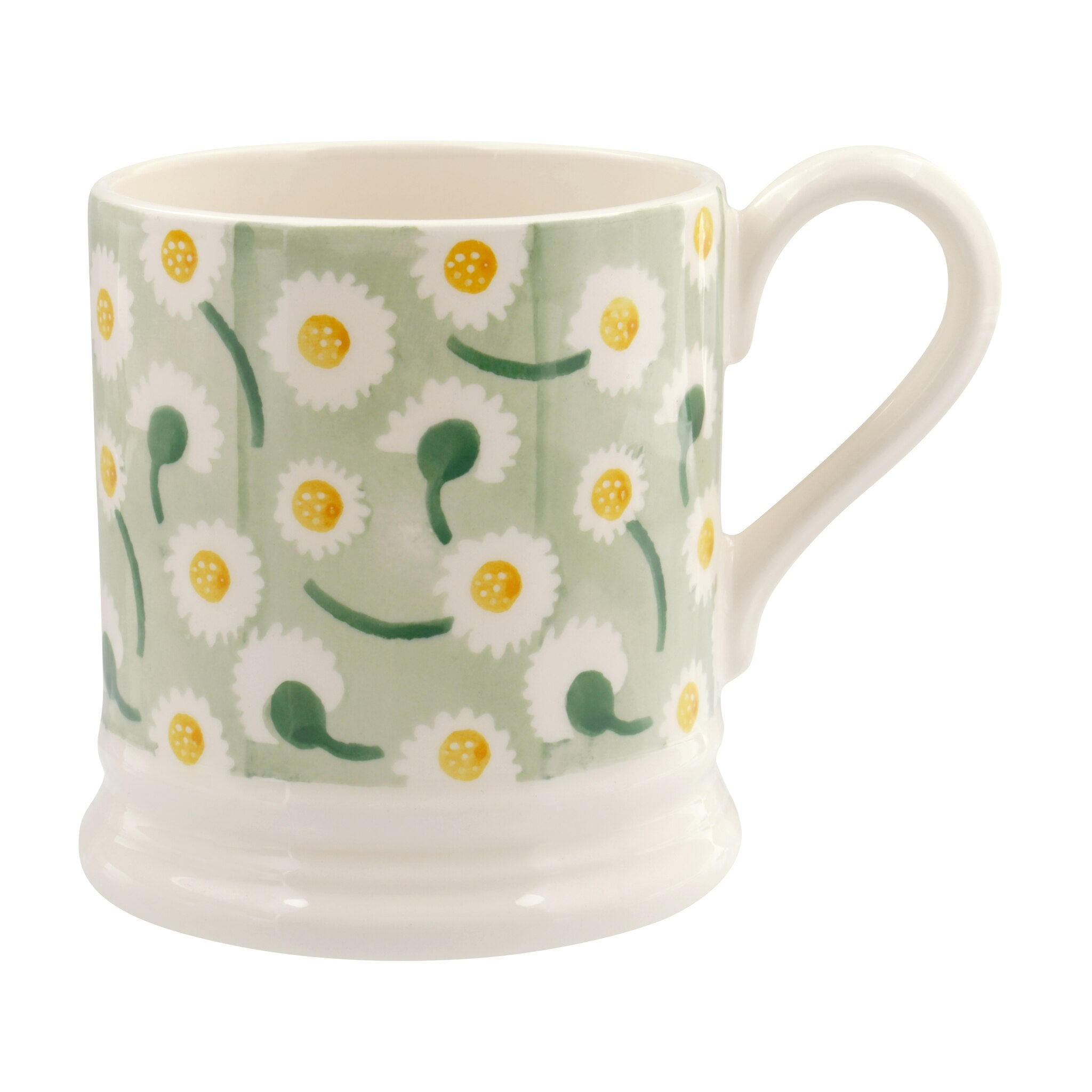 Daisy Light Green 1/2 Pt Mug