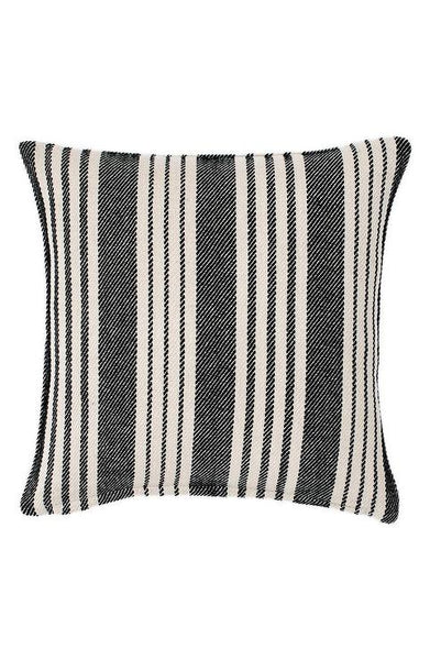 Birmingham Black Striped Woven Cotton Accent Pillow