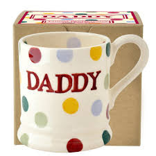 POD150002 - EMMA BRIDGEWATER POLKA DOT DADDY 1/2 PINT MUG BOXED