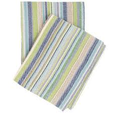 FISHER TICKING COTTON WOVEN THROW