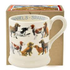 SNL020002 - EMMA BRIDGEWATER ALL OVER SPANIEL 1/2 PINT MUG