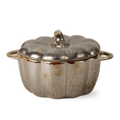 Lidded Pumpkin Bowl with handles