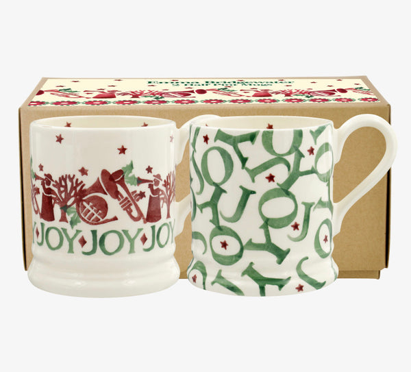 Joy Trumpets Set of 2 1/2 Pint Mugs Boxed