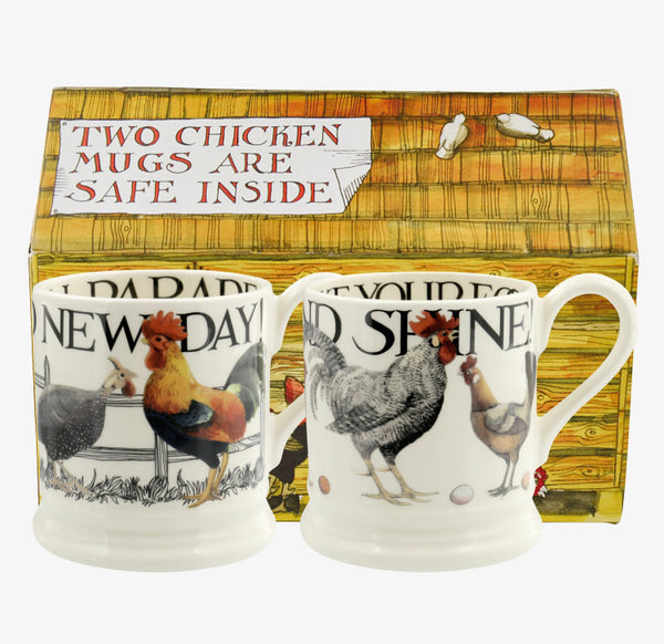 Rise & Shine Set of 2 1/2 Pint Mug Boxed