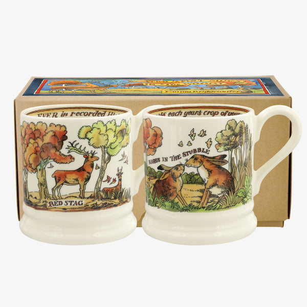 In The Woods 2-1/2 Pint Mugs Boxed