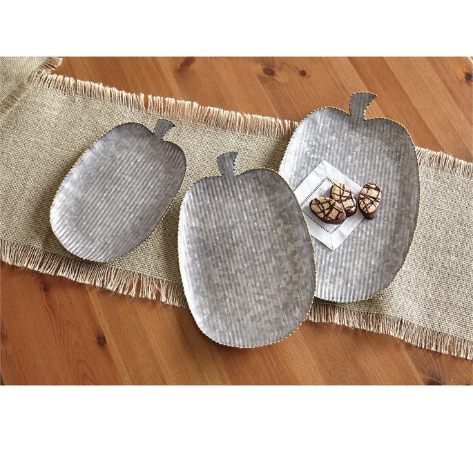71157 - TIN PUMPKIN TRAY SET