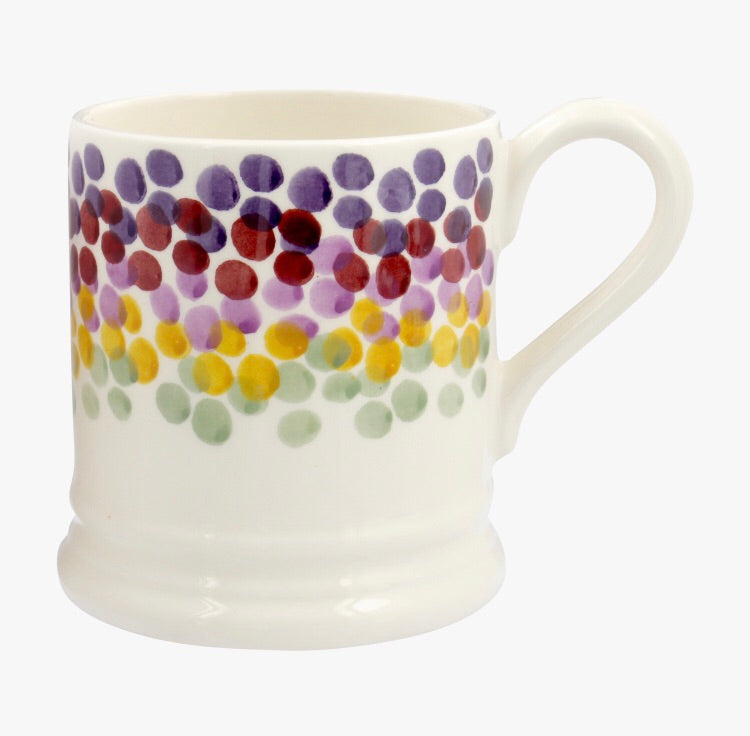 Rainbow Dots 1/2 Pint Mug