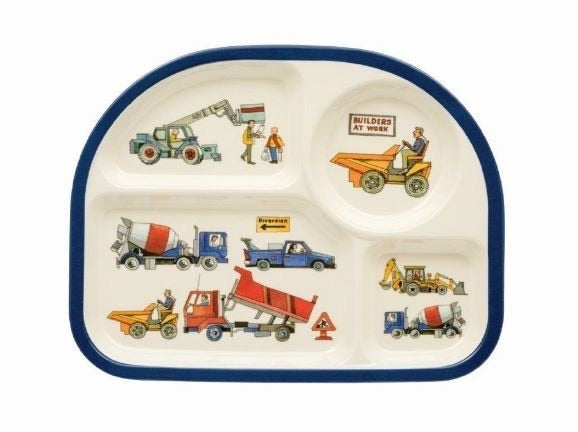Builders At Work Children's Meal Tray