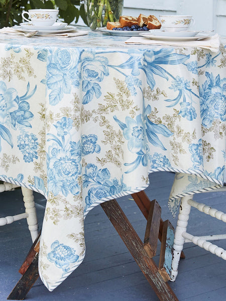 Grace Ecru Oilcloth Tablecloth
