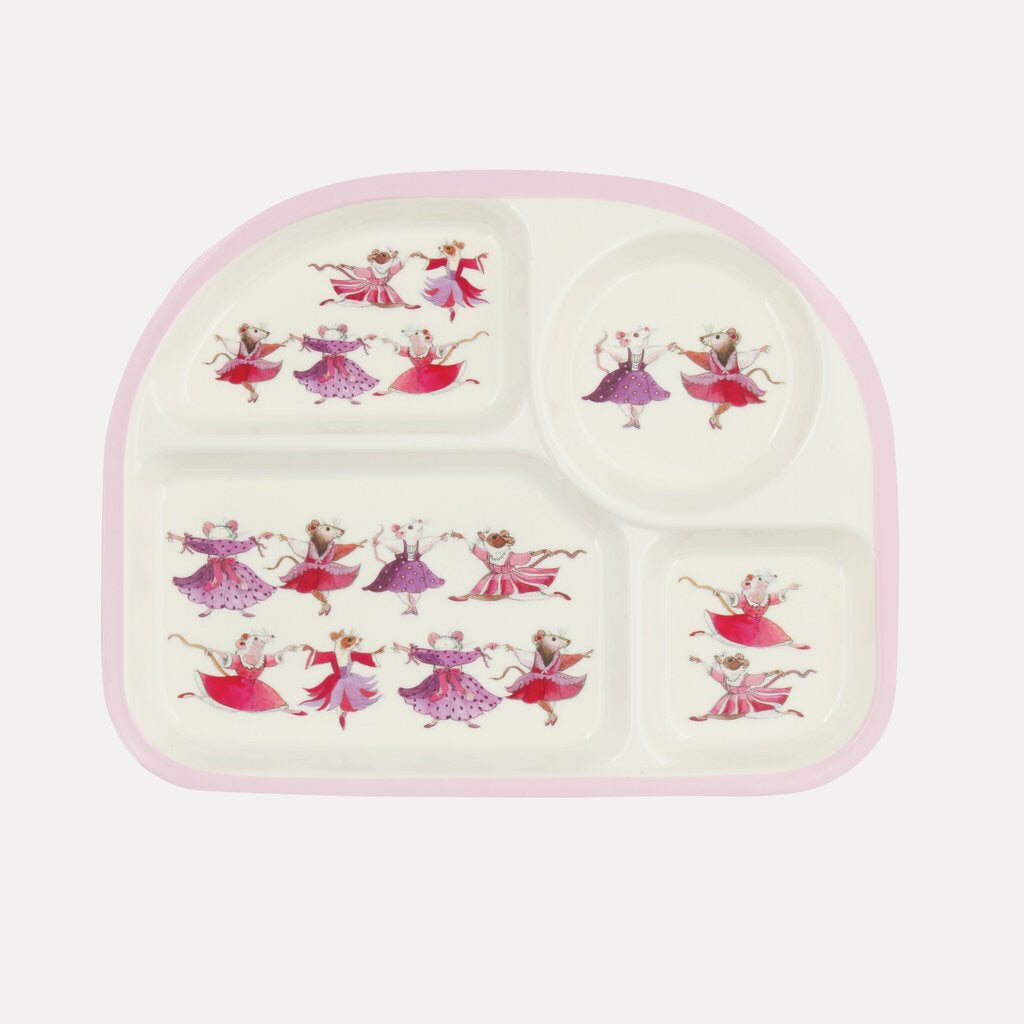 Dancing Mice Melamine Childrens Eat Tray