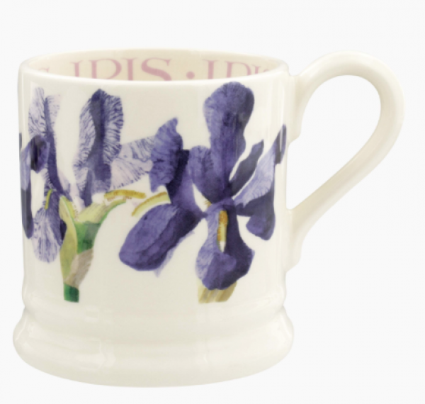Flowers Blue Iris 1/2 Pint Mug