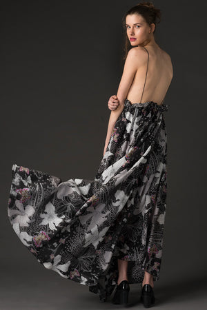 Sonja - Printed Maxi Dress - Oscar Mendoza