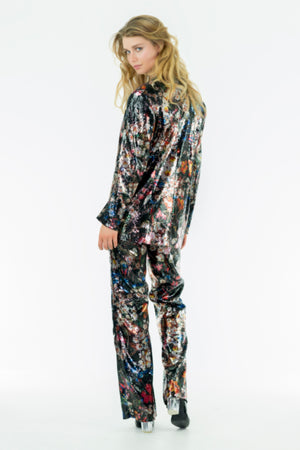 MATRIX - Sequins Printed Women tailored Suit - Oscar Mendoza