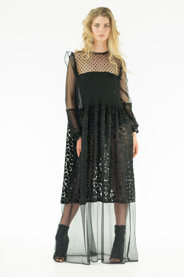 Matis Maxi dress - See-through Maxi Dress - Oscar Mendoza