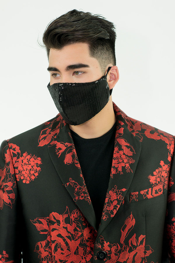 Black Sequins Mask - Oscar Mendoza
