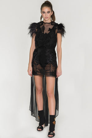 Barroque Feather Dress
