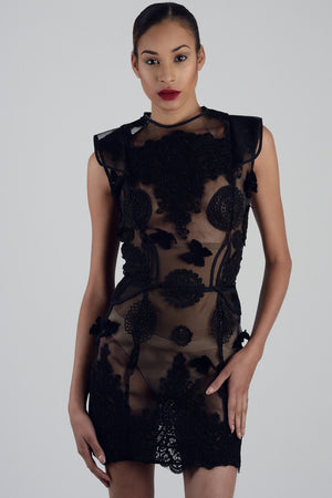 Vera - Rigid Mesh Lace Dress