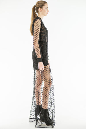 Dazia Evening - Guipure and Lace Dress