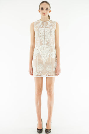 Dazia - Texturized White Mini Dress